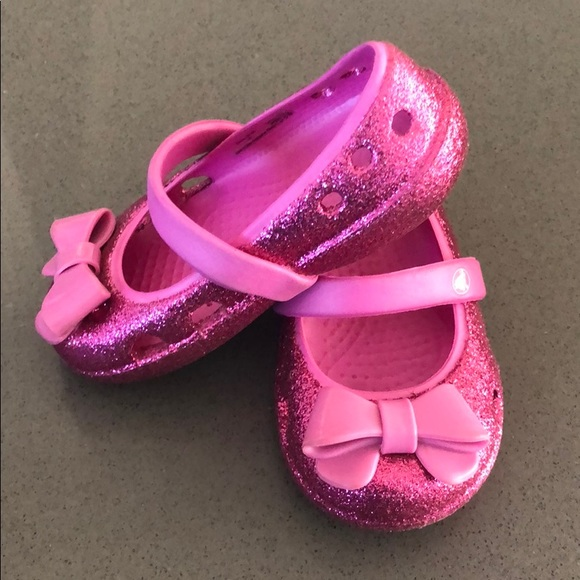 Crocs Toddler Girl Keeley Glitter Bow